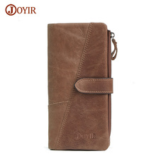 Joyir Men Real Leather Wallet Male Multi-card Bit Leather Wallet Men Brand Genuine Leather Wallet Long Purse Cow Men Wallet 2042