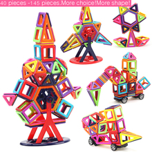 Здесь можно купить  40pcs/166pcs Big Size Magnetic Building Blocks Building Magnetic Designer DIY 3D Brick Education Learning Toys Children Xmas DS9  Models & Building Toy