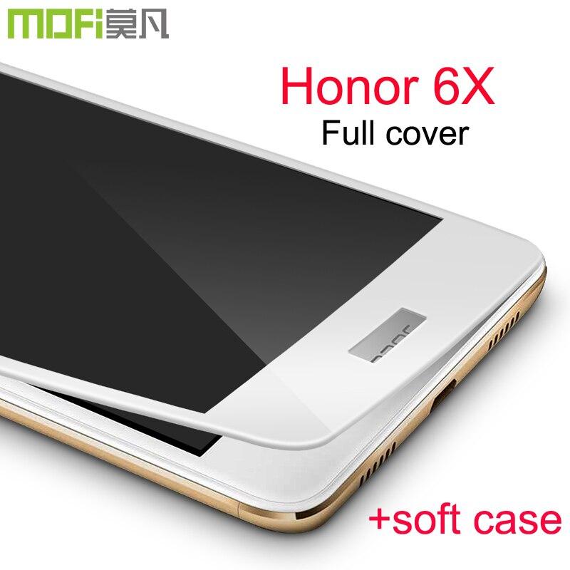 bilder für Honor 6x glas ausgeglichenes Huawei taube 9 lite displayschutz film full cover huawei ehre x6 huawei ehre 6x glas