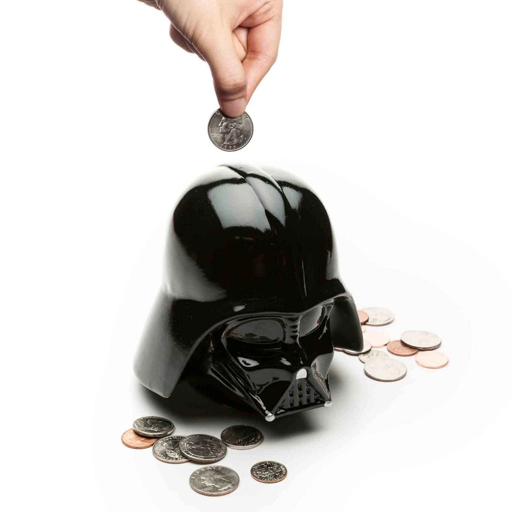 Star Wars The Force Awakens Darth Vader Money Coin Bank Storage Box Collectable