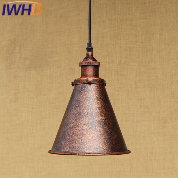 IWHD Loft Vintage Industrial Pendant Lights Bedroom Retro Hanging Lamp American Style Kitchen Dining Lighting Fixtures Luminaire american retro pendant lights luminaire lamp iron industrial vintage led pendant lighting fixtures bar loft restaurant e27 black