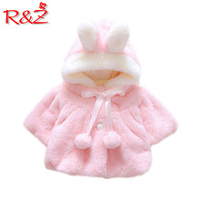 R&Z Baby Infant Girls Fur Winter Warm Coat 2019 Cloak Jacket Thick