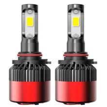 2 قطعة HIR2 9012 الصمام العلوي H11 H8 9005 9004 9007 مرحبا لو شعاع سيارة برقائق مثبتة على اللوح الضباب مصابيح إنارة رأسية لمبة 6500K الأبيض LED مصباح 16000LM 12V
