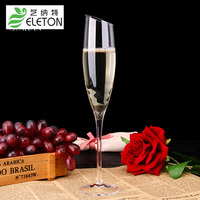 ELETON Glass Oblique Mouth Handmade Diamond Crystal Clear Red Wine Crystal Champagne Cup Wine Glasses Drinkware