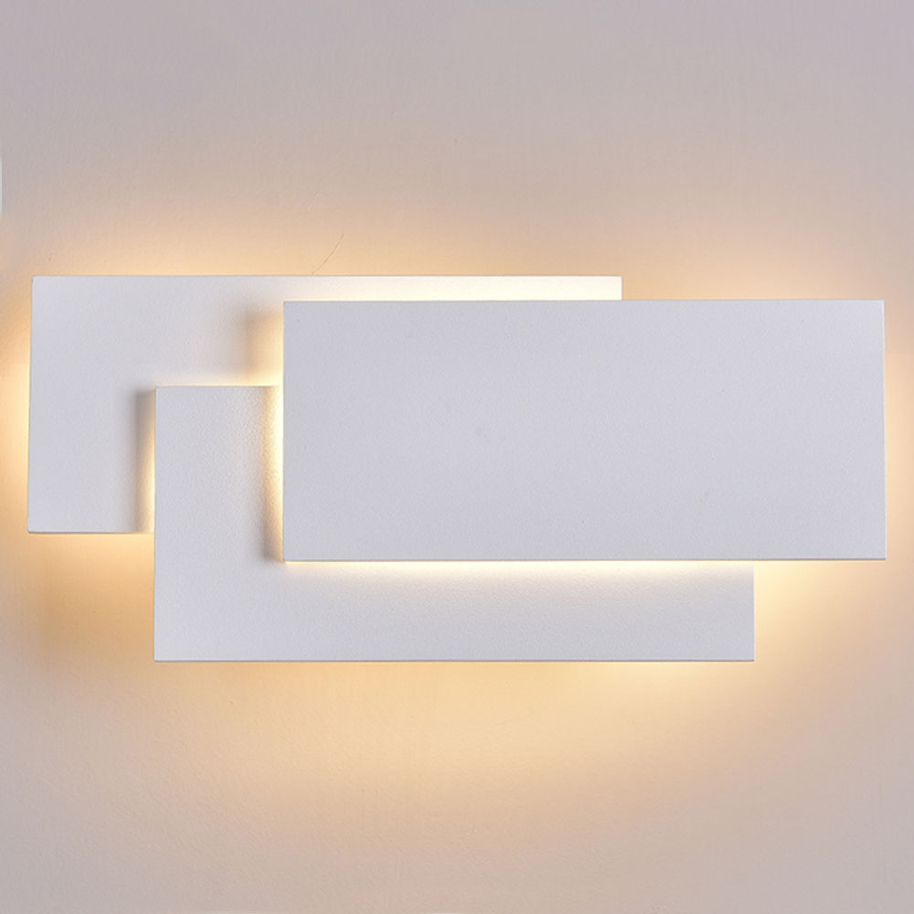Parede Lâmpadas LED Lustre Luz Da Parede De Alumínio Pintado de Branco Preto Para O Quarto Casa de Iluminação Luz Do Banheiro Luminária Arandela Luminária - 4