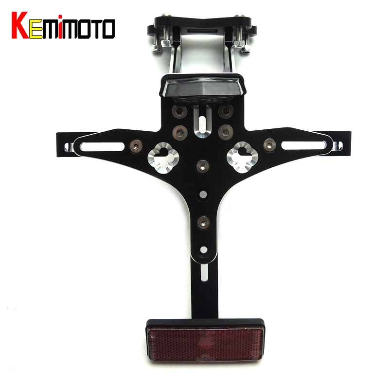KEMiMOTO MT09 FZ09 MT 09 Led Light Rear Tail Tidy Fender Eliminator Kit License Plate Holder For Yamaha MT-09 FZ 09 2014-2016 motorcycle tail tidy fender eliminator registration license plate holder bracket led light for ducati panigale 899 free shipping