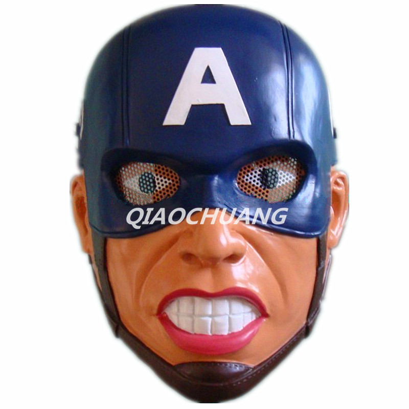 Avengers Superhero Captain America Mask Breathable Full Face Mask Steven Rogers Helmet Halloween Cosplay Prop Halloween Props 2016 movie cosplay captain america civil war helmet cosplay black panther helmet t challa helmet mask party halloween prop