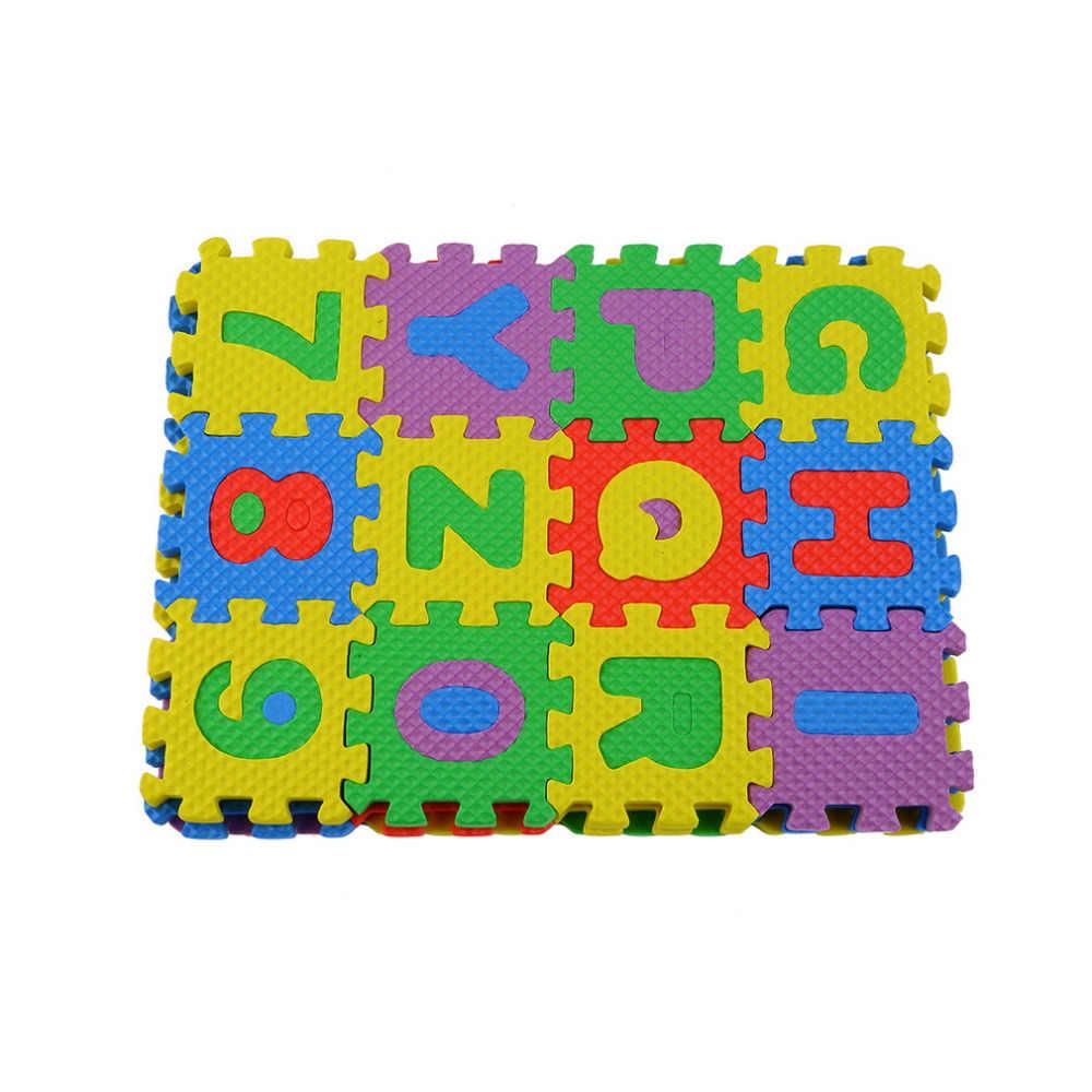 A-Z 36pcs Colorido Enigma Kid Brinquedo Educativo Alfabeto Letras Numeral Bebê Engatinhando Pad Esteira do Jogo Da Espuma auto-montar