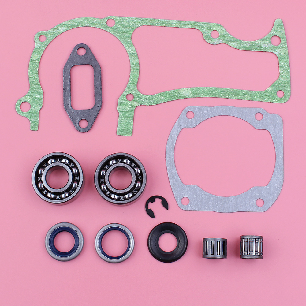 Crankcase Cylinder Muffler Gasket Set For Husqvarna 362 365 371 372 Crank Bearing Oil Seal Washer Clip Chainsaw Replace Part
