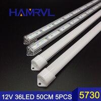 Factory Wholesale DC 12V SMD 5730 LED Hard Rigid LED Strip Bar Light Aluminium shell +pc cover LED Bar Light 5730