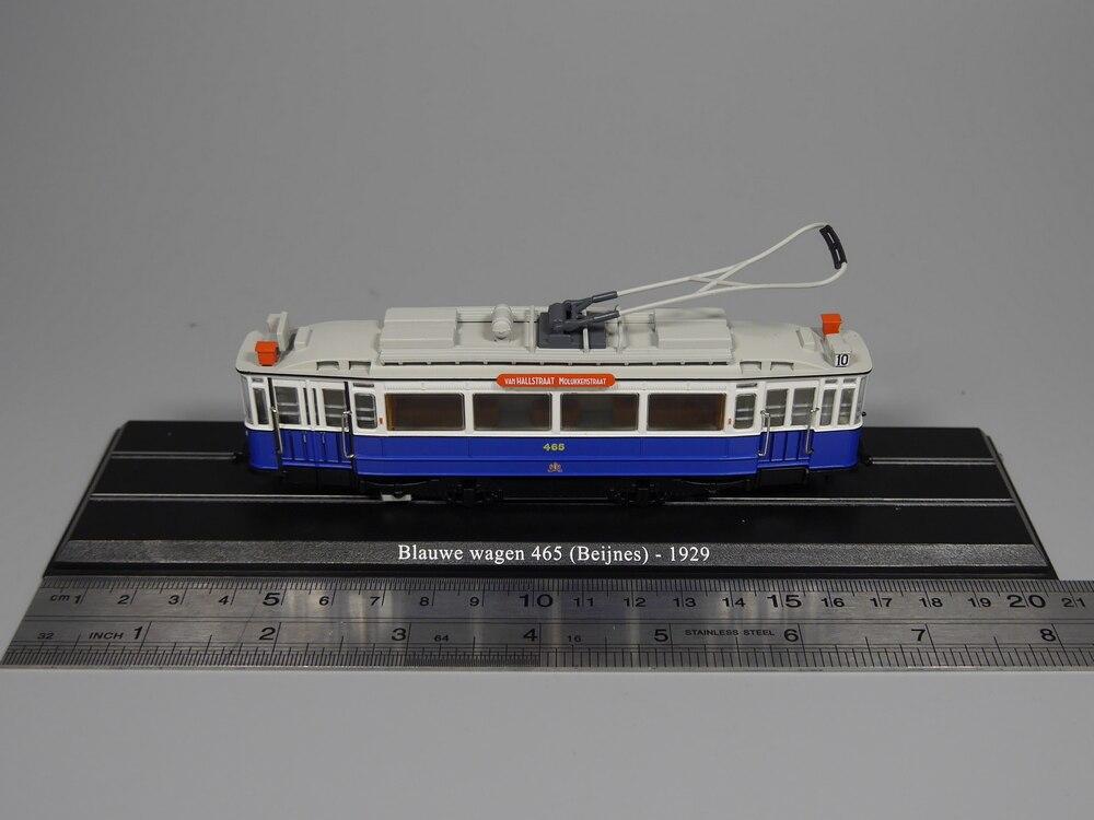 Ho scale model 1:87 scale tram Blauwe wagen 465 (Beijnes) 1929 Diecast model car(China)