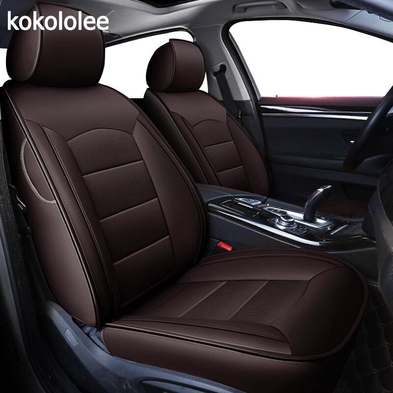 Kokololee personnalisé auto réel en cuir housse de siège de voiture pour bmw e46 e36 e39 e90 x1 x5 x6 e53 f11 e60 f30 x3 e83 Automobiles Siège Couverture