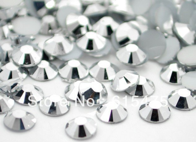 3mm Silver Hematite Color SS10 crystal Resin rhinestones flatback,Nail Art Rhinestones,100,000pcs/bag