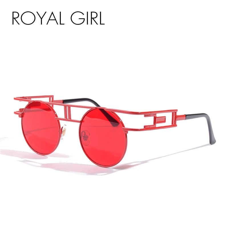 27ad1b7210 ROYAL GIRL Vintage Punk Sunglasses Women Brand Designer Chic Unique Glasses  Metal Frames High Quality Unisex
