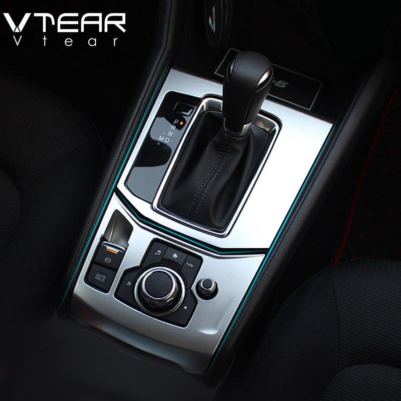 Vtear Für Mazda CX-5 CX5 2017-2019 zubehör Zentrale steuerung ZU Getriebe Panel trim Abdeckungen Innen edelstahl dekoration
