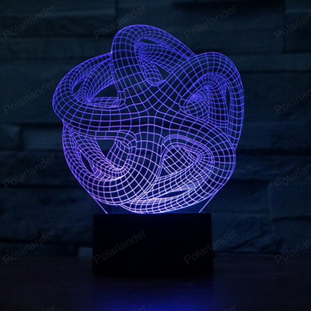 Led Bedroom Lights Decoration Abstract 7 Colors Transform Lampe 3d Acrylic Lamp Led Bedroom