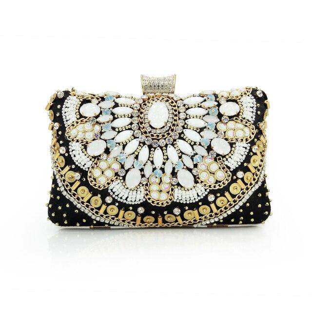 2017 High Quality Brand Handbag Women S Fashion Pearl Beaded Clutch Bag Evening Purses