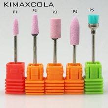 KIMAXCOLA 1 PCS 3/32 Pink Ceramic Stone Burr Nail Drill Bit Cutter For Professional Manicure Electric Drills Accessory