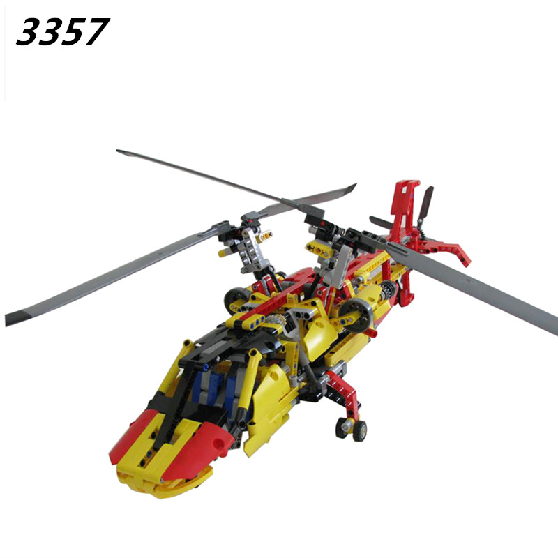 AIBOULLY 2017 New 3357 Technic Helicopter building bricks blocks Toys for children Game Car Formula 1 Compatible with  9396