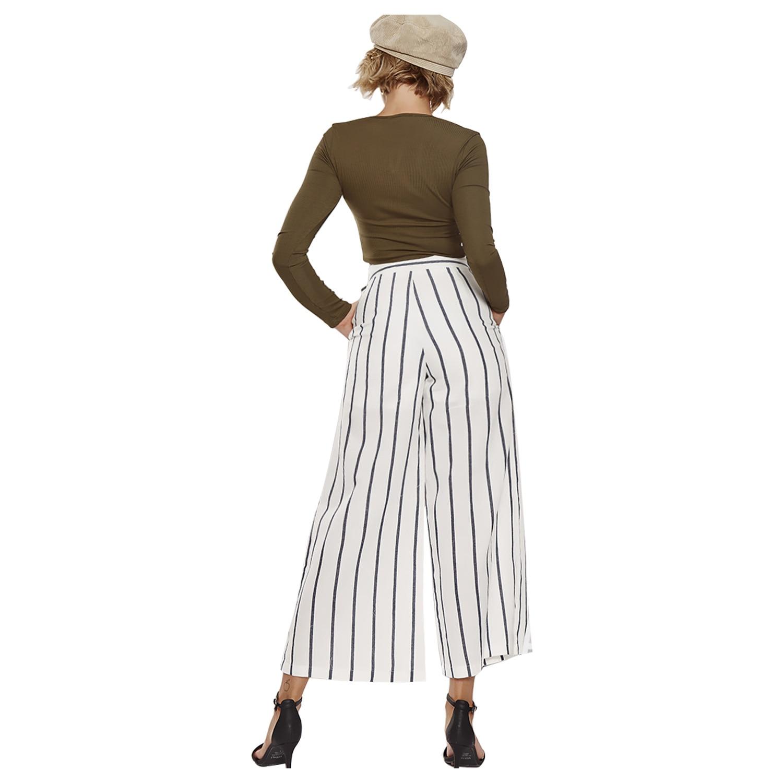 Rayas White A 100 Estados Pantalones De Alta Unidos Nueve Cintura Mujeres La Sueltos Anchos Los Minutos Las Europa Y vuelta Moda 8IxpRXq