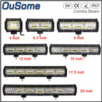 4 6.5 9 12 15 17.5 20 INCH Double Rows Tri Rows 4X4 car car offroad led light bar work 60W 120W 180W 240W 300W 360W 420W