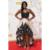 Increíble Champagne Satén Vestidos de La Celebridad de Encaje Negro Alto Bajo Porsha William 67a Premios Emmy Alfombra Roja se Viste Vestidos de Fiesta