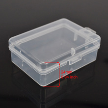 Small Plastic Clear Transparent Collection Container Storage Boxes Case for Fishing Accessories 66x48x24mm