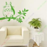 Miễn phí Vận Chuyển Phim Hoạt Hình Nhật Bản Totoro Chinchilla dán tường kính đề can tường bao gồm trang trí nội thất 11 màu sắc lựa chọn
