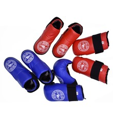 Taekwondo ITF Gloves Foot Guard Set Protector Ankle High Quality PU Leather ITF Protector Boot Boxing For Adult Child