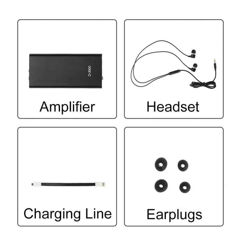 Audífonos de bolsillo amplificador de Sonido Volumen ajustable utensilios para el cuidado del oído MP3 para sordos ancianos auriculares de conducción ósea