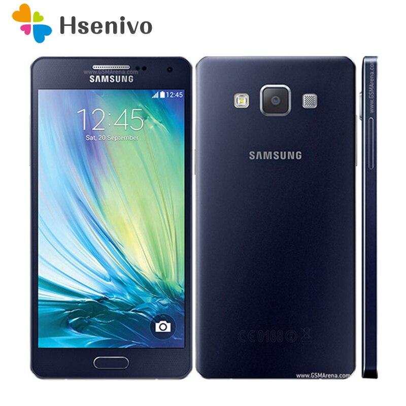100% Original Desbloqueado Samsung Galaxy A5 A5000 A500F LTE telefones Celulares 5.0
