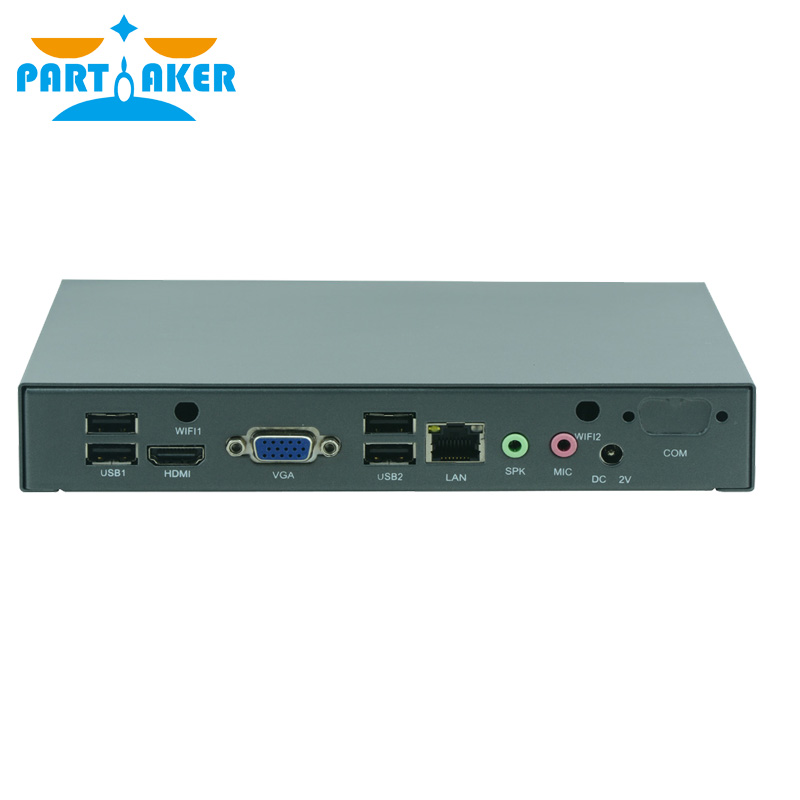все цены на Free shipping Partaker M50 fanless or fan mini pc intel celeron j1800 computer онлайн