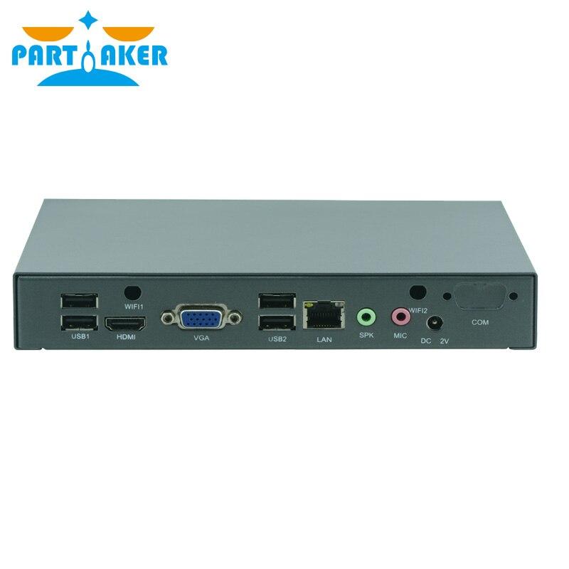 Free Shipping Partaker M50 Fanless Or Fan Mini Pc Intel Celeron J1800 Computer