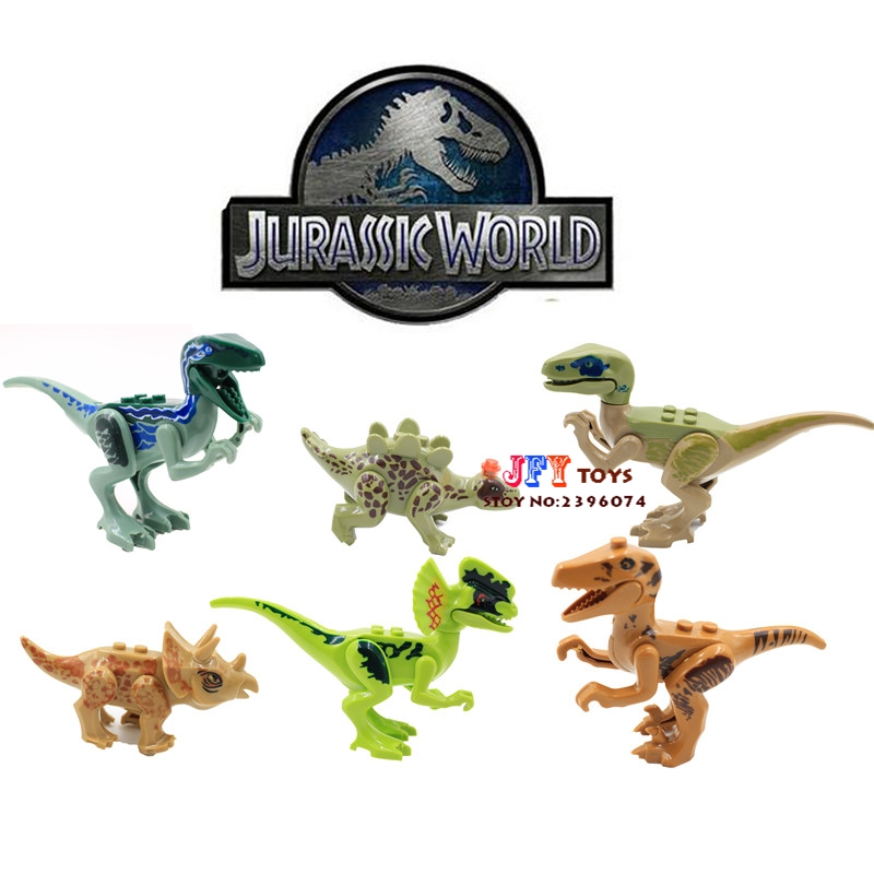6pcs star wars super heroes marvel Jurassic World Jurrassic Dinosaur building blocks model bricks toy for children juguetes the dinosaur island jurassic infrared remote control electric super large tyrannosaurus rex model children s toy