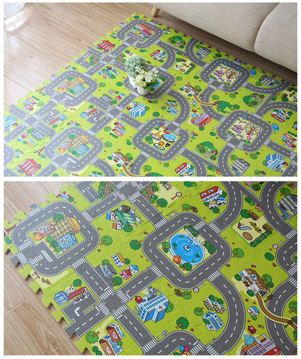 HTB1eO3Cd3vD8KJjy0Flq6ygBFXao Baby EVA Foam Puzzle Play Floor Mat City Road Education Carpets Interlocking Tiles Kids Traffic Route Ground Pad (No Edge) NEEU