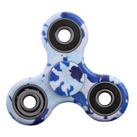 Triangle Blue Sky White Fingertips Gyro Autism ADHD Anti Stress Funny Gifts Plastic EDC Rotation Long Time Color Random
