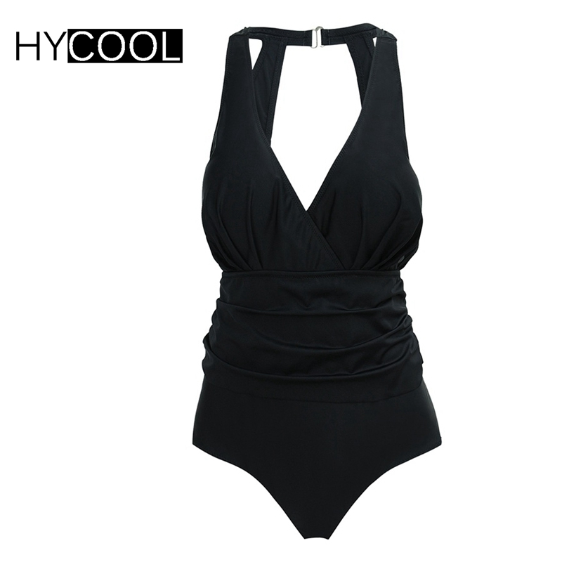 HYCOOL Plus Size 4XL Retro Women Bikini Swimsuit Swimwear One Piece Bathing Suit  Solid Sexy Swimsuit Vintage Bandage Bikini Set yue sai yue sai 5ml 2016 8