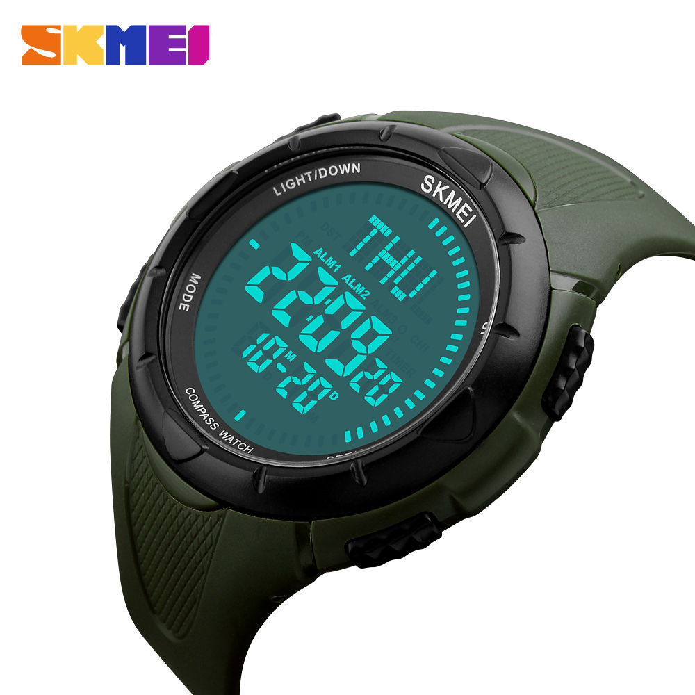 Men Sports watch Digital Watches SKMEI Men Gift Military Compass Countdown Watches Digital Running Climbing wristwatch Relogio