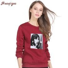 Harajuku Style 2017 Korean Winter Sweatshirts Women Character Printed Autumn Round Neck Punk Fleece Hoodies Drop Shipping