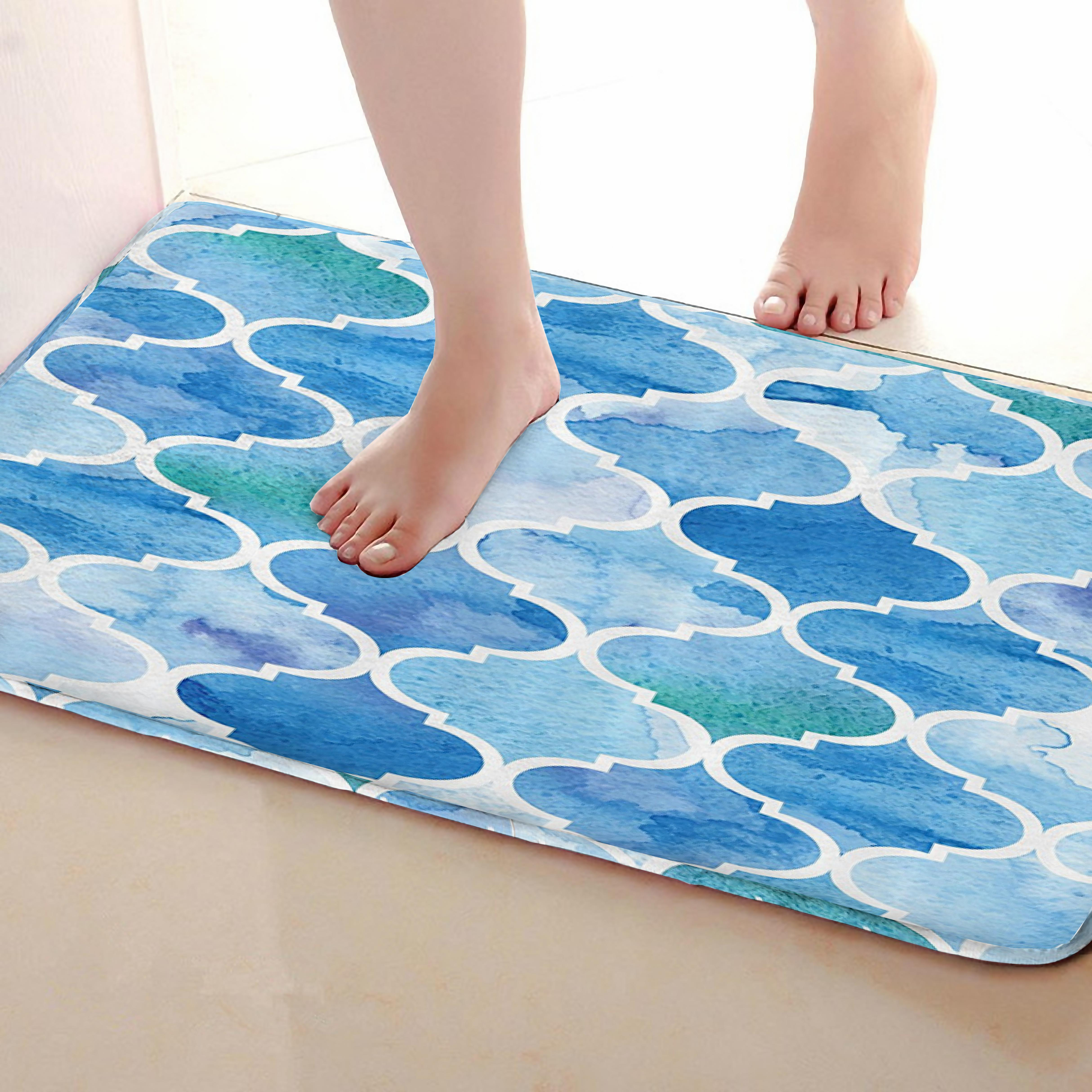 Lantern shape Style Bathroom Mat,Funny Anti skid Bath Mat,Shower Curtains Accessories,Matching Your Shower Curtain