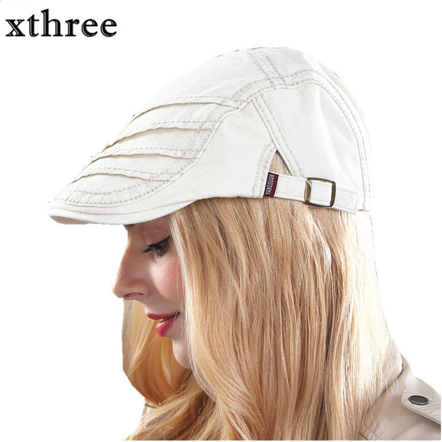 Gorra de algodón de boina de visores de moda Xthree para hombres y mujeres  gorra de 793e10f6a73