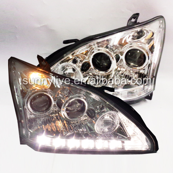 For TY Herrier Kluger Head Lamp for Lexus RX330 RX300 R350 Angel Eyes 2003 to 2009