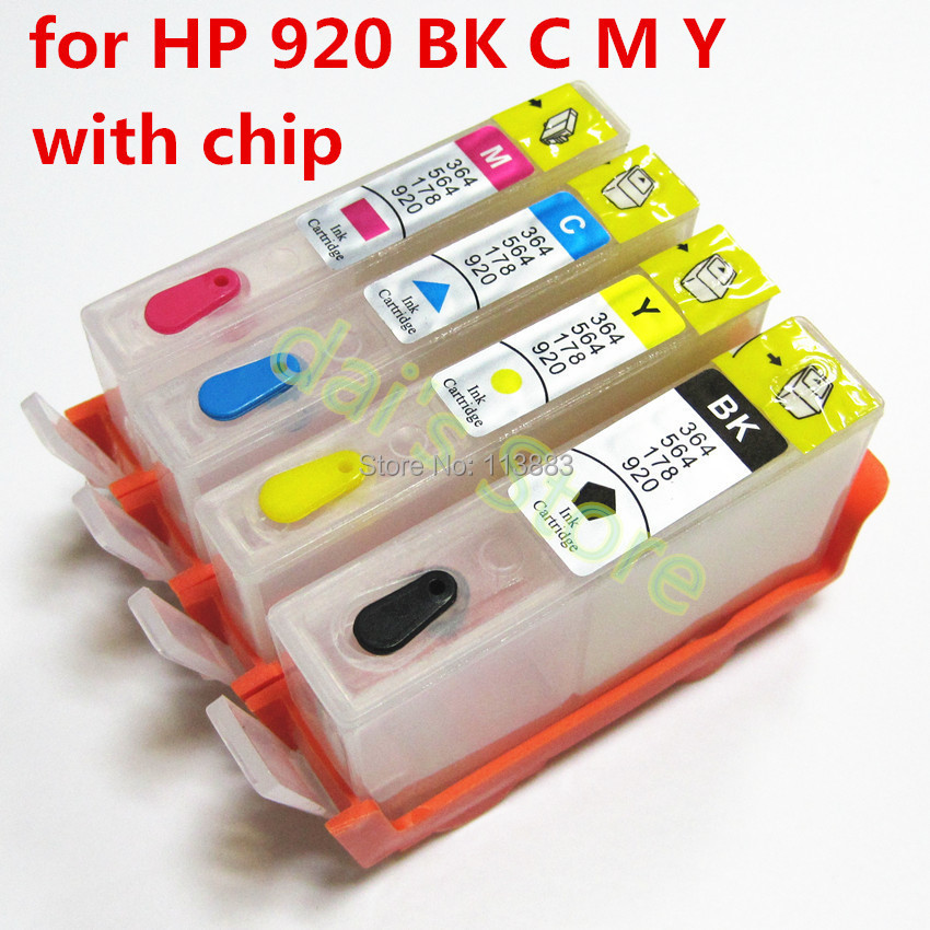 10set For hp 920 920XL Refillable ink Cartridge for HP officejet 6000 6500 6500A 7000 7500 7500A  printer with chip campus pioneer 200 xl