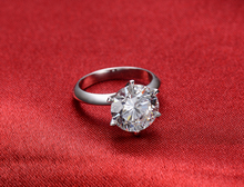 AU750 Moissanite Fine Jewelry Splendid Ring 6Prongs Setting 6Ct Solid 750 Gold Engagement Ring Synthetic Diamonds 750 White Gold