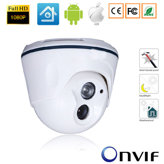 2.0 Mega Pixels 1920*1080P Dome CCTV IP Camera ONVIF 2.0 Indoor IR CUT Array Leds Night Vision network P2P Plug and Play-xmeye ламинат коллекция old castle plus дуб анжер 613 толщина 11 мм 34 класс holzmeister хольцмейстер