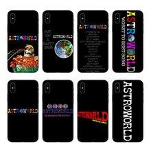 Scott travis astroworld lunatico em modo de casos de telefone para o iphone 7 8 Plus 11Pro parágrafo maçã Silicone macio capa preta