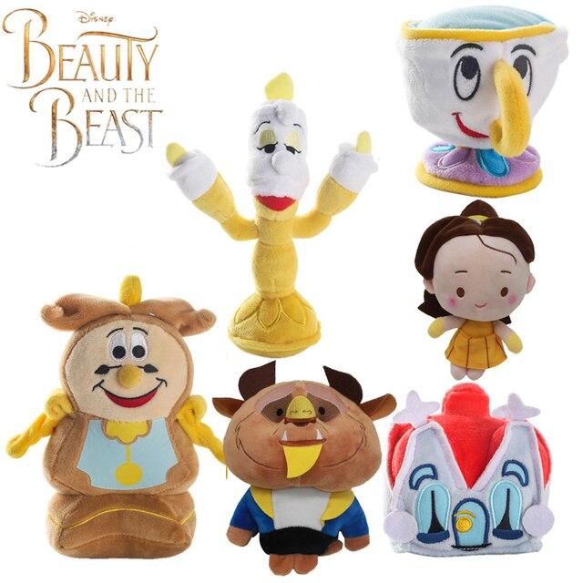 bba51042784 The beast Creative Cartoon Clock candle cup head stuffed Movie Plush toy  beauty and the beast toys