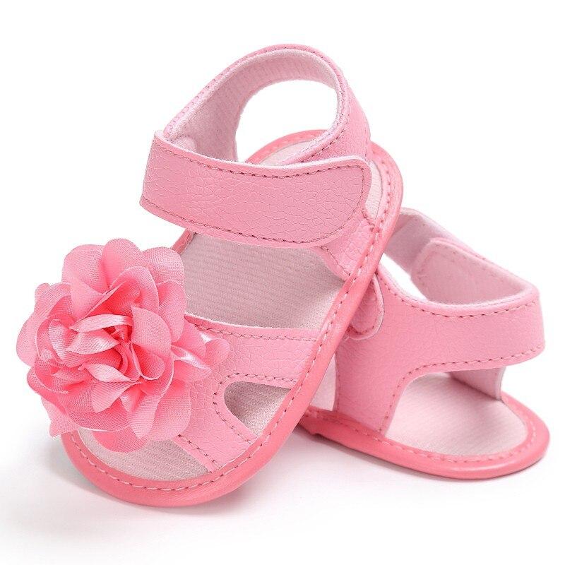 Sweet Baby Girls Big Flower Prewalkers Shoes Crib Bebe Princess First Walkers Infant Toddler Soft Soled Shoe Newborn New