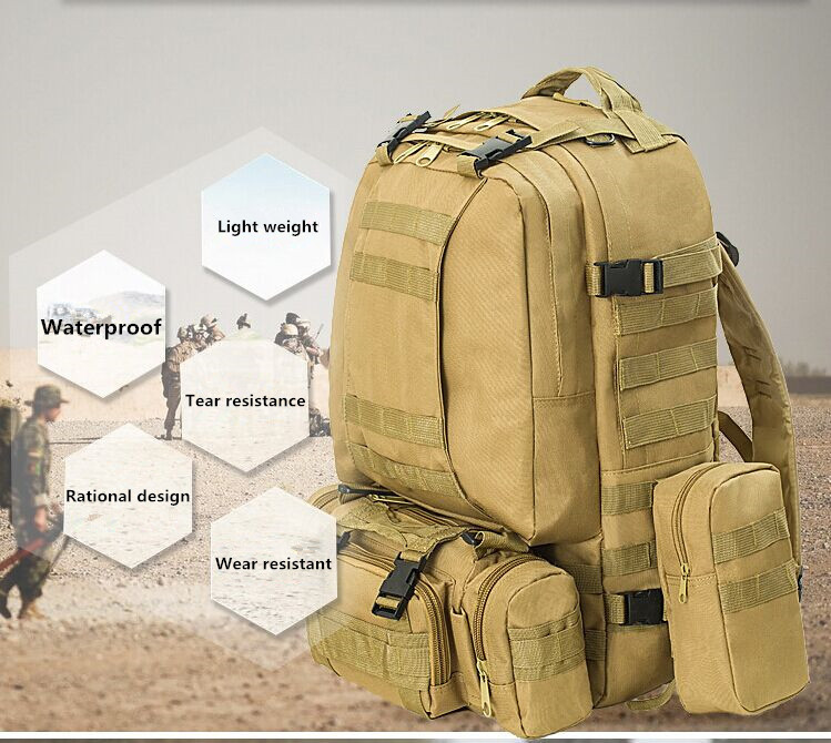 14 color hunting backpack molle tactical assault outdoor military rucksacks outdoor camping bag large 65l