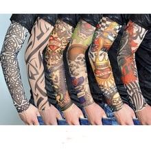 1 шт. велосипедные спортивные тату-рукава УФ крутые рукава для рук Велоспорт Бег тату для рук теплые спортивные эластичные нарукавники для рук
